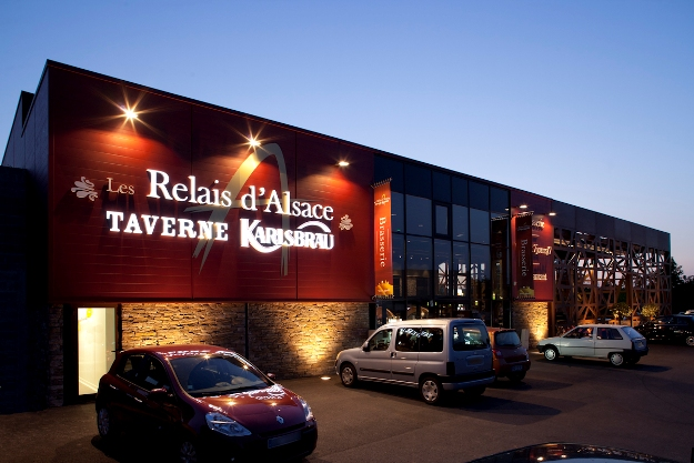 Taverne Karlsbrau , les relais d\'Alsace. Les hunaudieres Ruaudin.